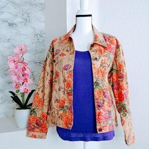 Susan Bristol Floral Denim Jacket